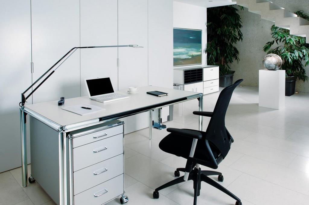 Modernes Homeoffice mit anspruchsvollem Mobiliar. Bild: tdx/Artmodul