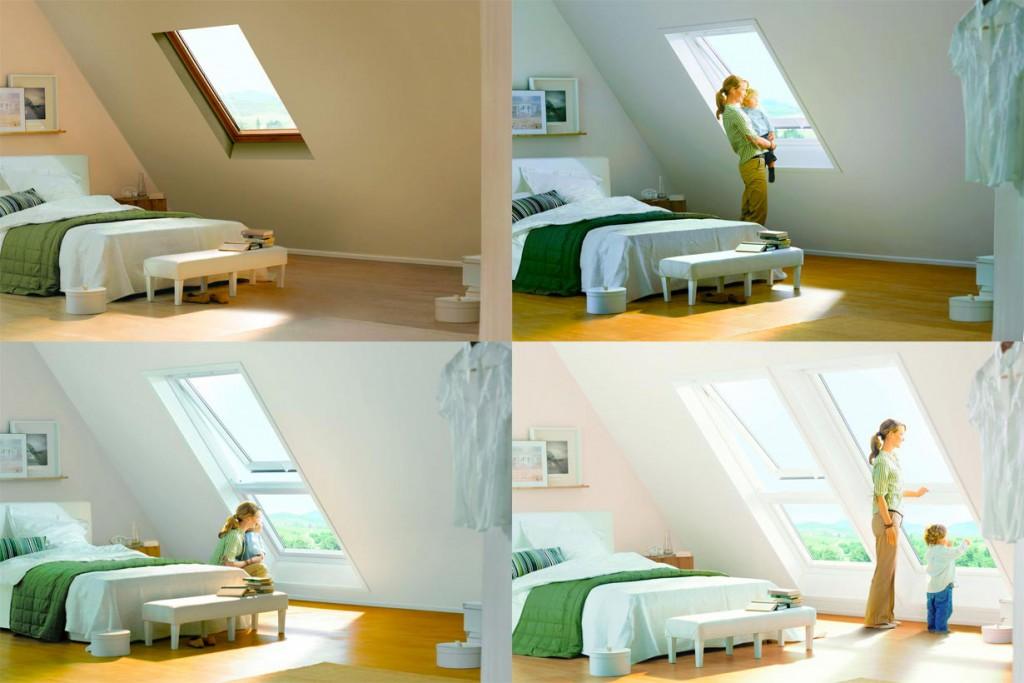 Der Austausch alter Dachfenster verbessert die Wohnqualität im Dach spürbar. Vergrößert man zugleich die Fensterfläche, gewinnt der Wohnraum zusätzlichen Wert. Bild: tdx/Velux