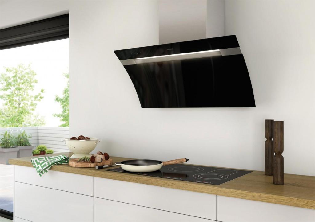 abzugshaube kuche die sorgt fr angenehme luft in der kche moderne als blickfang in der kche. Black Bedroom Furniture Sets. Home Design Ideas