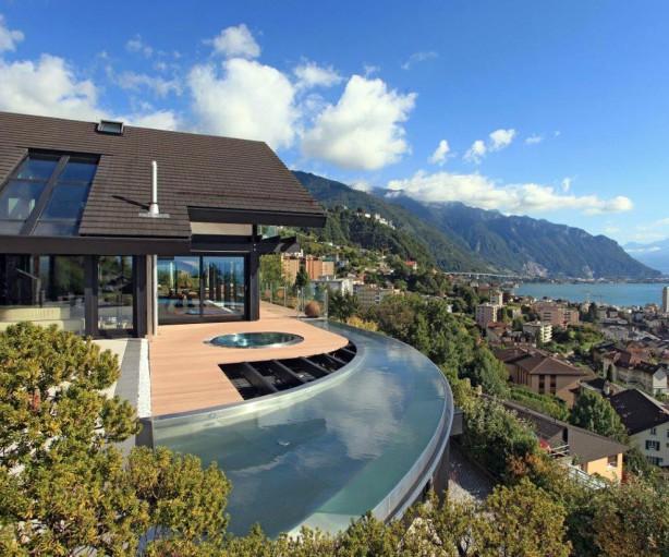 Ein Traumhaus mit einem traumhaften Blick über den Genfer See. Bild: Davinci Haus