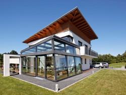 quaderhaus mit pultdach. Black Bedroom Furniture Sets. Home Design Ideas