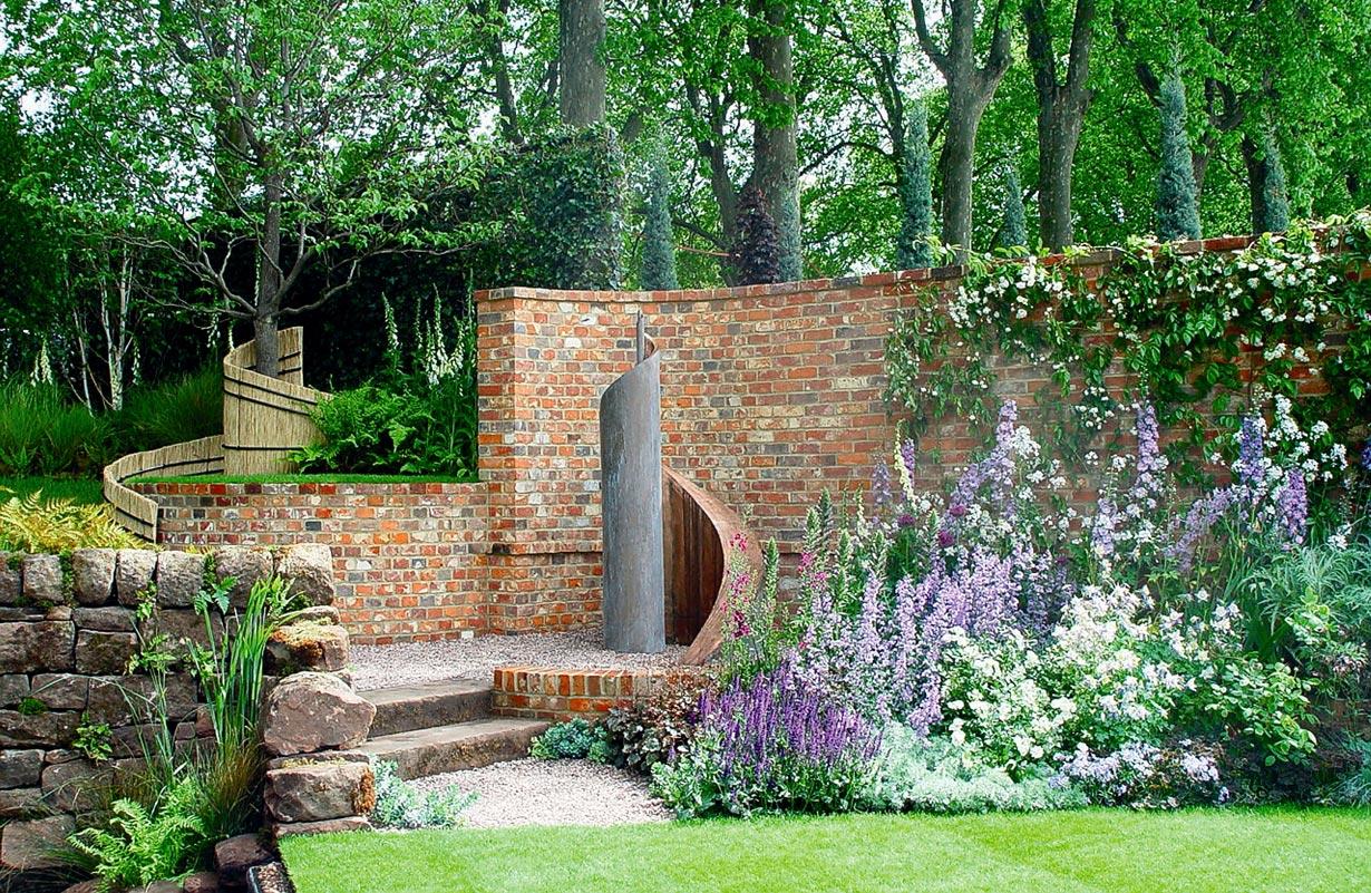 Natur oder betonstein - Gartengestaltung wand ...