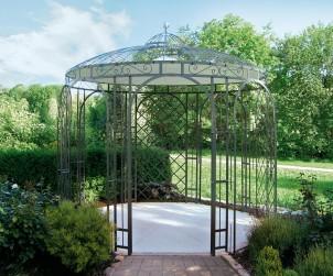 Pavillons, ob offen oder geschlossen, sind eine elegante Wahl um den eigenen Garten aufzuwerten. Durch individuelles und hochwertiges Design sind sie Schmuckstück und Rückzugsort zugleich. Bild: tdx/Garten & Design