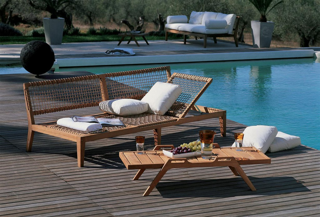Gartenmöbel-Klassiker in neuem Design: Holzmöbel liegen weiterhin im Trend. Bild: tdx/Unopiù