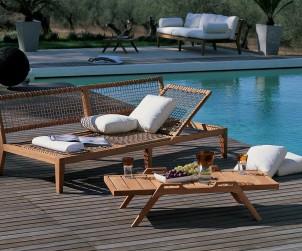 Klassiker in neuem Design: Holzmöbel liegen weiterhin im Trend. Bild: tdx/Unopiù