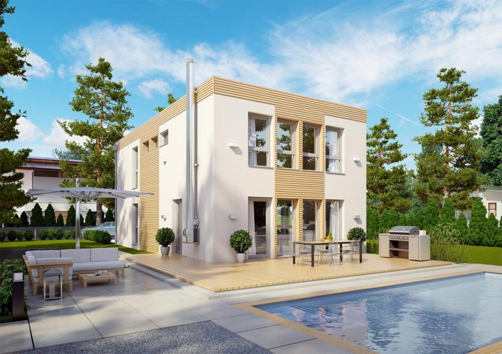 Von außen überzeugt das Looft mit seiner modernen Architektur. Im Inneren bietet es eine revolutionäre Flexibilität. Im Handumdrehen wird aus dem Loft ein großzügiges Familiendomizil. Bild: tdx/ELK Fertighaus Bildquelle: tdx/ELK Fertighaus
