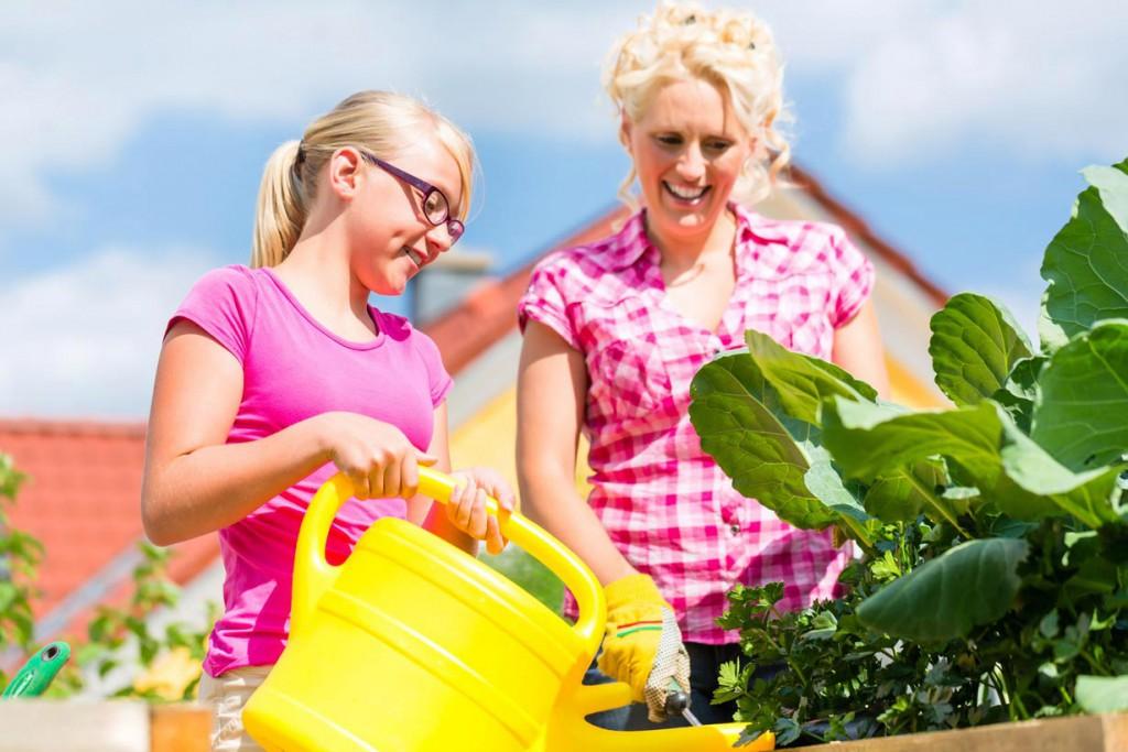 Ein wichtiger Tipp zur Gartenbewässerung: Beim Gießen mit Kanne oder Gartenschlauch sollte man möglichst immer die Erde treffen. Das spart einerseits Wasser, andererseits werden dadurch Verbrennungen an Blüten und Blättern vermieden. Bild: fotolia