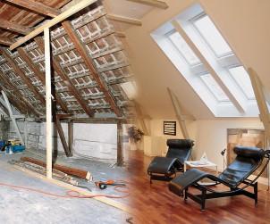 Ob Kinder-, Schlafzimmer oder Bad - aus dem Dachboden lässt sich mehr machen als ein öder Speicher oder eine verstaubte Rumpelkammer. Bild: tdx/dach.de