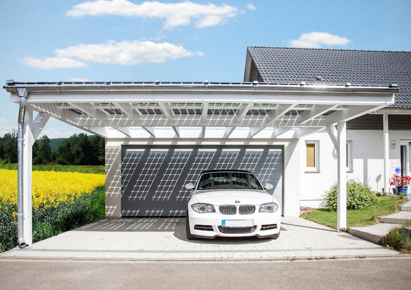 Solarcarport individuelle Ausführungen