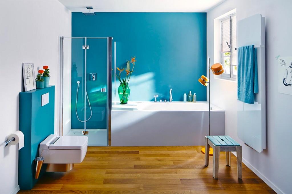 holzboden im bad ⋆ hausidee.dehausidee.de |, Badezimmer