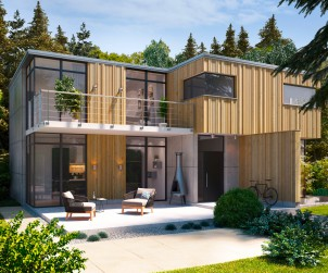 Unterschiedliche Profile und Oberflächen bilden die Grundlage des Fassadensystems R3D. Die Kombination von Profilvarianten und Profilstärken erzeugt ein ausdrucksstarkes Relief und gibt Fassaden eine dynamische Form. Bild: tdx/Mocopinus