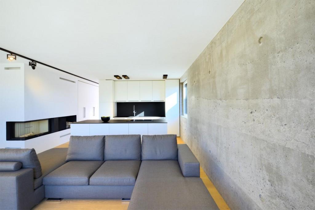 Die 50 cm starken Außenwände des Gebäudes bestehen aus Infraleichtbeton mit einer Rohdichte von nur 700kg/m³. Bild: InformationsZentrum Beton/Peters