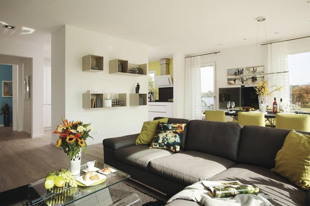 Stadtvilla in neuem Gewand. Wohnzimmer. Bild: Weber Haus