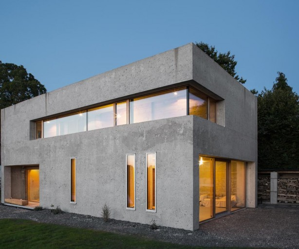 Die 45 cm starken Außenwände des Gebäudes bestehen aus Leichtbeton. Foto: InformationsZentrum Beton/ Darko Todorovic