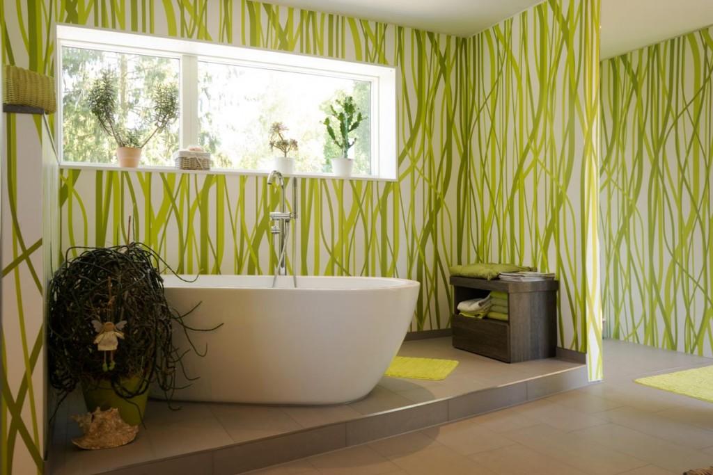 Ökologie trifft Design - das gilt auch im Badezimmer. Bild: Max Haus