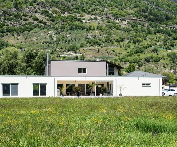 Charakteristisch für das Haus der Meichtrys ist der schmale, lange Grundriss. Bild: Weber Haus