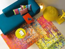 """Inspiriert von der Stadt und der Karibikinsel Antigua, wird bei dieser Kollektion das Thema """"Vintage"""" neu interpretiert. Das feine Druckverfahren der neuen Arte Espina Chenille Qualität """"Atelier"""" ermöglicht völlig neuwertige, interessante Optiken zu dieser Thematik. Bild: tdx/Arte Espina"""