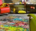 """Beim Teppichmodell """"Action Art"""" haben sich die Arte Espina-Designer von Jackson Pollocks """"Action Paintings"""" der 1950er Jahre inspirieren lassen. Bild: tdx/Arte Espina"""