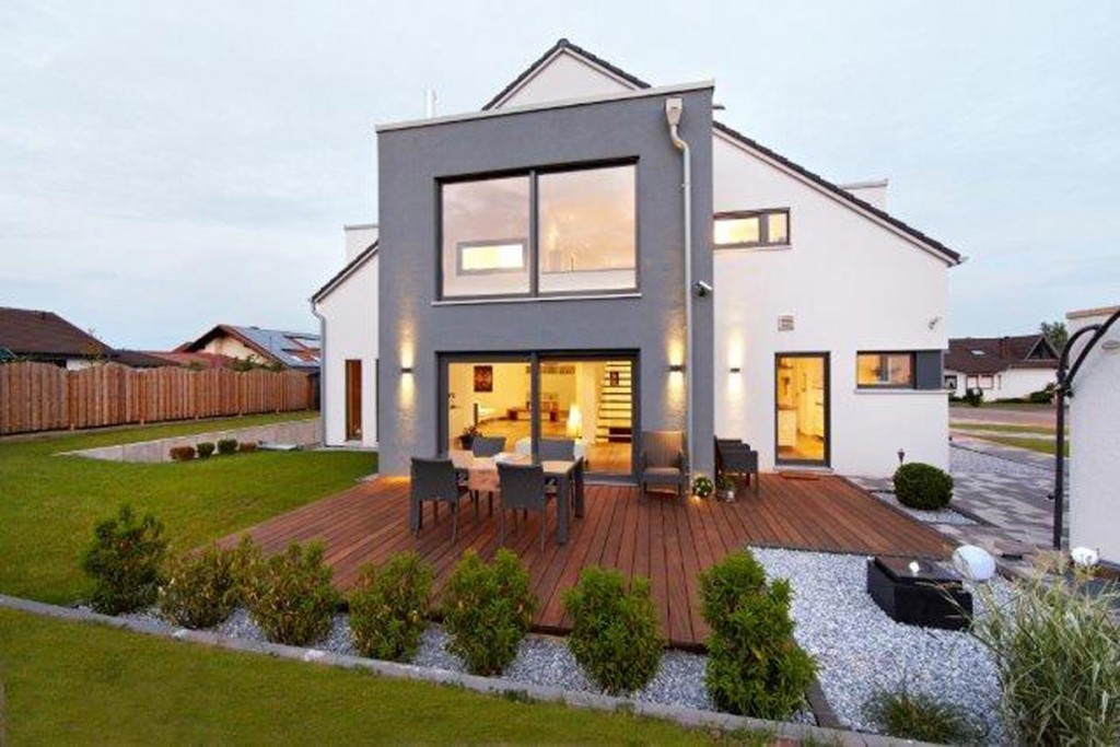Einzigartiges Zweifamilien-Haus - individuell mit zwei Familien geplant. Bild: Gussek Haus