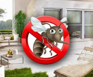 Von außen sind sowohl die am Fenster angebrachte, als auch die für die Tür geeignete gefalzte Insektenschutz-Variante kaum zu erkennen. Blickbeziehungen zwischen Außen- und Innenbereich sowie die Raumwirkung bleiben dadurch erhalten. Bild: tdx/Teba
