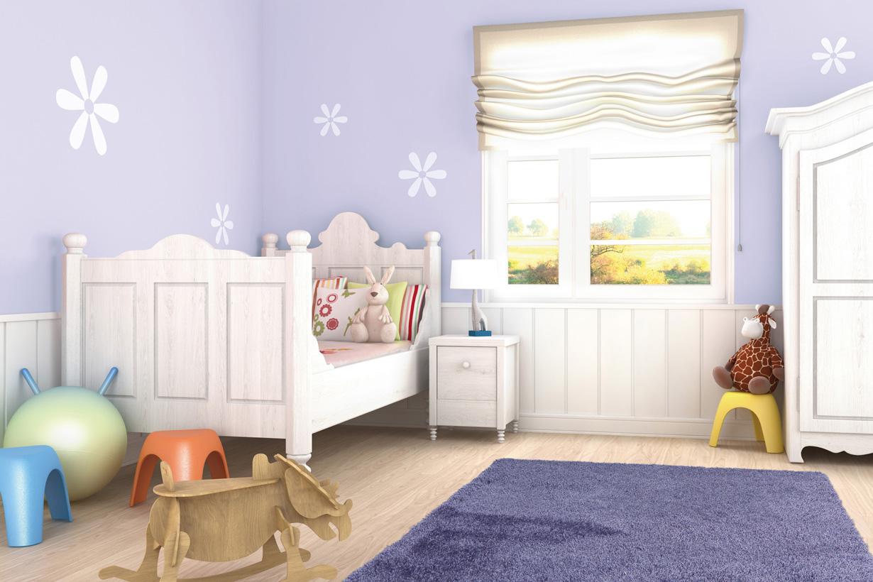 Im Kinderzimmer kann man problemlos Mut zur Farbe zeigen, denn Kinder lieben es bunt. Bildquelle: tdx/Arte Espina