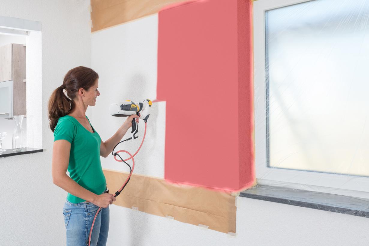 Eine Farbfläche auf Fensterhöhe als plakativer Blickfang ist schnell erstellt. Bildquelle: tdx/Wagner