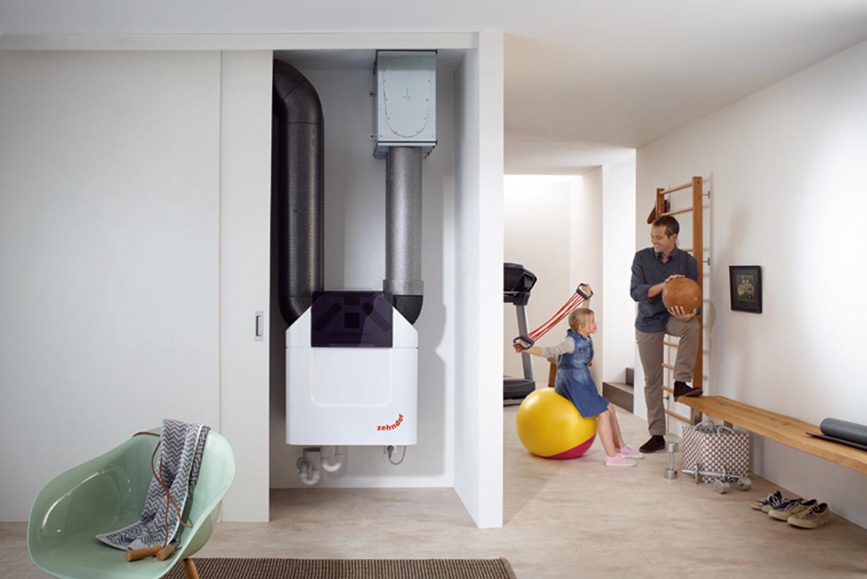 Optimales Raumklima: Die neue Komfort-Lüftungsgeräte-Generation Zehnder ComfoAir Q sorgt dank innovativer Technologien leise und mit höchster Effizienz für gesunde Atmosphäre im Wohnbereich. (Bild: Zehnder)