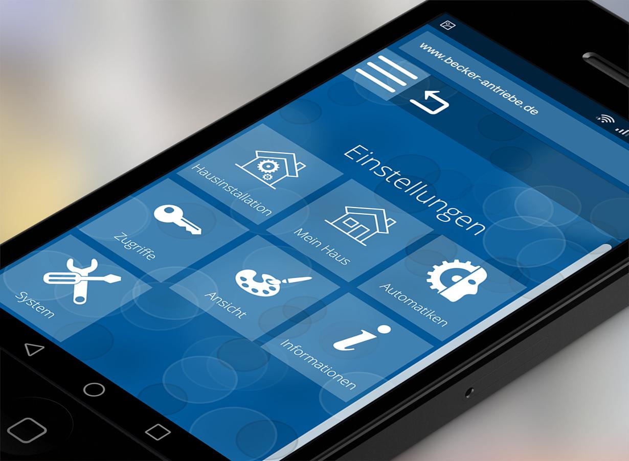 Smartphone, Tablet und Smartwatch sind heutzutage stets griffbereit. In Kombination mit automatisierten Antrieben lässt sich mit ihnen das Eigenheim jederzeit bequem und kinderleicht überwachen und kontrollieren. Bildquelle: tdx/Becker-Antriebe