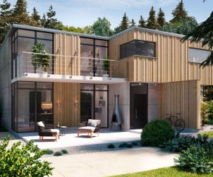 Holzfassaden werden wegen der interessanten Optik und dem natürlichen Material immer beliebter. Bild: tdx/Mocopinus